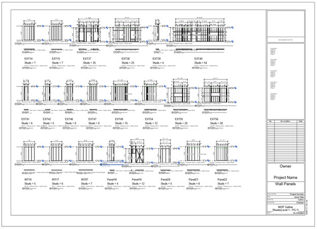 MWF Shop Drawings Gather Sheets